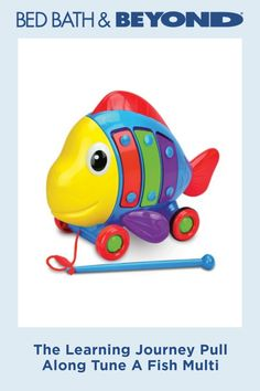Kids will enjoy a musical treat with the Pull Along Tune a Fish from The Learning Journey, whether they bang on his xylophone sides or simply listen to the melodies he plays as he's pulled along. Encourages walking and develops large motor skills. Tune Music, Rubber Duck, Motor Skills, Musicals, Journey, Fish, Learning, Products, Studying