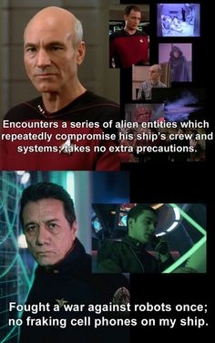 Picard and Adama