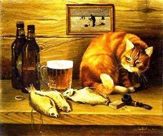 Г. Литвиненко. Натюрморт с котом