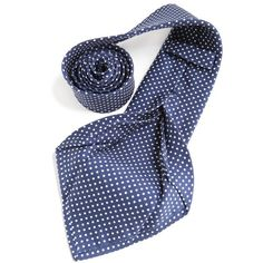 Petronius 1926 italian handmade navy with white dots 5 fold silk tie  8,5 cm ( art. 470 ), $149
