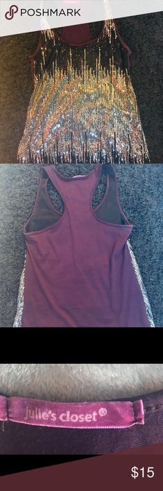 Sequin Razorback Tank Sequin Tank  Wear out or with jeans! Other