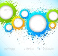 Abstract Background with Grunge Circles  #GraphicRiver         Used gradients and transparency. Editable EPS10     Created: 2June13 GraphicsFilesIncluded: JPGImage #VectorEPS Layered: No MinimumAdobeCSVersion: CS Tags: abstract #backdrop #bright #brush #circle #creative #curve #decorative #dirty #element #frame #funky #graphic #green #illustration #ink #internet #modern #orange #paint #shape #shiny #spatter #template #texture #vector #wallpaper #web #white #yellow