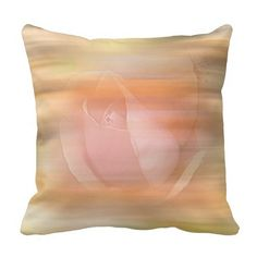 Peach Rose Abstract Pillow