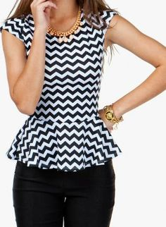 LOVE! Perfect combo...chevron and peplum....a must in my wardrobe!