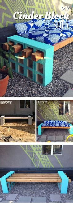 Check out how to build an easy DIY outdoor bench or sofa @istandarddesign #easyhomedecor