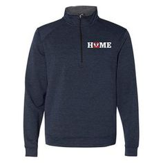 Unisex, Navy Triblend rayon/polyester/elastane Quarter-zip Pullover ( Size Chart Please allow business days for orders to ship out as many are made on demand. Dave Thomas, Size Chart, Unisex, Pullover, Zip, Adoption, Foundation, Swag, Jackets