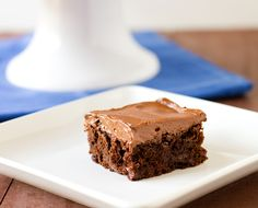 Chocolate Fudge Brownies with Chocolate Buttercream Frosting.  Oh I think I'm going to have to make these!!!