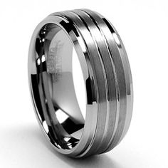 @Overstock - Grooved ringTungsten carbide wedding band jewelryClick here for ring sizing guidehttp://www.overstock.com/Jewelry-Watches/Mens-Tungsten-Carbide-Grooved-Tungsten-Ring-9-mm/5085666/product.html?CID=214117 $48.44