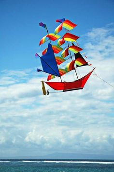 Awesome boat kites made in Bali