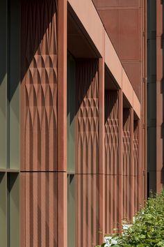 Urban Fabric | Architecture Today Architecture Today, Brick Architecture, Architecture Details, Interior Architecture, Concrete Facade, Precast Concrete, Concrete Tiles, Facade Design, Wall Design
