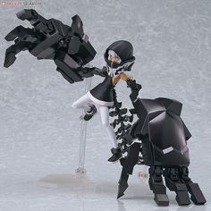 Good Smile Figma TV Animation Version Black Rock Shooter Strength PVC Figure A Japanese import From the anime series Highly poseable figure Black Rock Shooter, Arte Gundam, Character Art, Character Design, Pvc Paint, Alternate Worlds, Anime Figurines, Robot Art, Robots