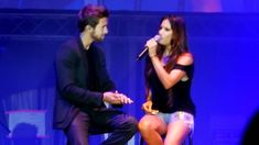 PABLO ALBORAN CON INDIA MARTINEZ