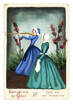 Shooting With The Girls by Marika Jones - Art Prints New Zealand New Zealand Art, Currier And Ives, Wall Art For Sale, Framed Prints, Art Prints, Detail Art, New Print, Vintage Ephemera, Print Store