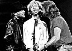 The Bee Gees perform at the Universal Amphitheater on Aug. 30, 1989.