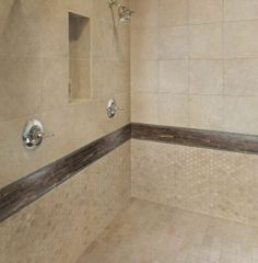 contemporary marfil mosaic shower | Bathroom Tile Ideas - Shower Tile