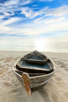 """""""Boat at sunrise   Tam Hinh"""":"""