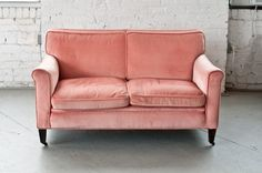 Our newest addition to our studio: The Blush Settee | Patina
