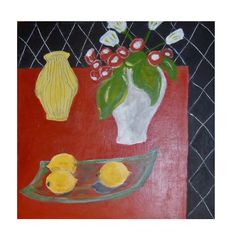 'Stealing from Matisse,' acrylic on canvas, Hiawyn Oram 2013, SOLD