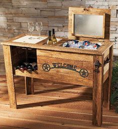 Easy Carpentry Projects - Wood Cooler Plans Wooden PDF outdoor furniture woodworking projects Easy Carpentry Projects - Get A Lifetime Of Project Ideas and Inspiration! Outdoor Furniture Plans, Wooden Pallet Furniture, Wooden Pallets, Wooden Diy, Furniture Ideas, Furniture Stores, Rustic Furniture, Antique Furniture, Building Furniture
