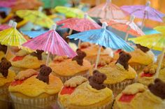 for kid's party - bring color with things like umbrellas instead of food coloring