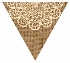 Shabby Chic Style Doily Bunting Free Printable Easy-to-Make