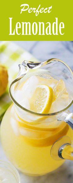 Simple Syrup Lemonade Recipe, Lemonade Recipe With Lemons, Lemonade With Lemon Juice, Homemade Lemonade Recipes, Make Simple Syrup, Lemon Drink, Lemon Recipes, Juice Recipes, Martini Recipes