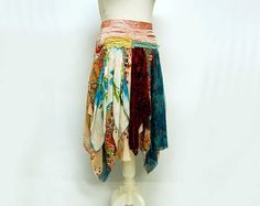 Size 8 Gypsy Skirt Hippie Skirt Fairy Skirt by GallimaufryClothing, $88.00