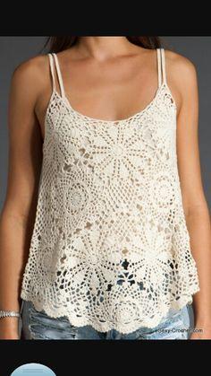 Crochet tank top #crochet #top