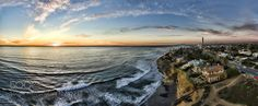 Sunset at the Carlsbad Cliffs - Pinned by Mak Khalaf This is a 5 image aerial panoramic at sunset of the Carlsbad Cliffs and Pacific Ocean. Carlsbad is 30 miles North of San Diego California USA. Fine Art aerialcarlsbadcliffscoastcoastaloceanpanoramicsan diegoshoreshorelinesouthern californiasunsetwaves by alancrosthwaite