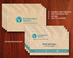 Double sided eco friendly business cards PSD free download, popularity of this kind of business cards is done by possibility of presenting your company as environment protective.