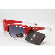 Cheap Oakley Jawbone Sunglasses polished red-white frames purple lens