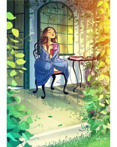 Beautiful art illustrations by Yaoyao Ma Van As Art Shared by Veri Apriyatno Artist . Art Painting, Girly Art, Drawings, Animation Art, Painting, Cute Art, Illustration Art, Garden Illustration, Beautiful Art