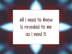 Daily Affirmation for December 23, 2013