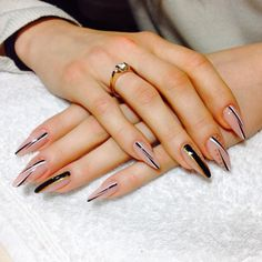 Installation of acrylic or gel nails - My Nails Glam Nails, Fancy Nails, Stiletto Nails, Cute Nails, Beauty Nails, Coffin Nails, Almond Acrylic Nails, Cute Acrylic Nails, Acrylic Nail Designs