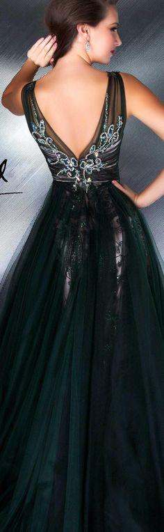 Mac Duggal couture dress bottle green #long #formal #elegant #dress COUTURE DRESSES STYLE 78718D BACK