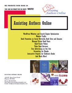 """Our website is under construction. David is giving """"Assisting Authors Online"""", a new look with new and exciting services. Doing the work involved with this has kept me from all of you for several months. I am looking forward to becoming active again."""