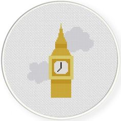 Big Ben Handmade Unframed Cross Stitch Wall by CustomCraftJewelry
