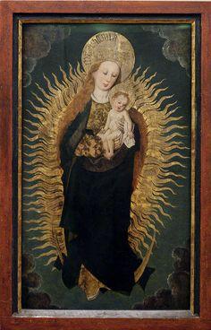 La vierge à l'enfant sur un croissant de lune ,  Musée Unterlinden - Colmar