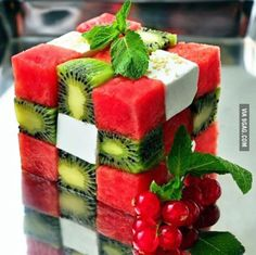Cube fruit salad,have you ever try it before?