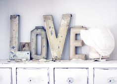love metal letters