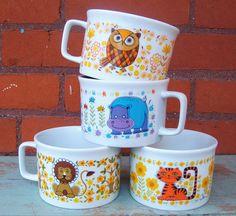 .Cute vintage seventies mugs...