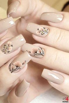 Classy Nail Designs, Pretty Nail Designs, Pretty Nail Art, Beautiful Nail Art, Simple Nail Art Designs, Acrylic Nail Designs, Chic Nails, Trendy Nails, Stylish Nails