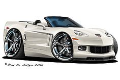 Cartoon Car Drawing, Car Drawings, Chevy Camaro, Chevrolet Corvette, Truck Art, Pontiac Firebird, Automotive Art, Car Humor, Cartoon Styles