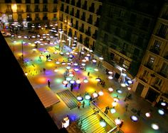 "Confetti Light, being a colorful and innovative project, was designed by Spanish architect Sergio Sebatian. Covering a 1000m2 area, the Confetti gives another dimension to a modified place. ""…"