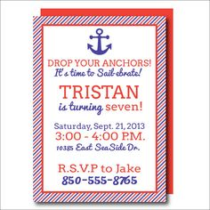 Crab Birthday Invitation Crab Printable Nautical invitation