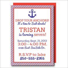 Nautical Birthday Invitation for Boys or Girls