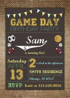 Hey, I found this really awesome Etsy listing at https://www.etsy.com/listing/151720406/childrens-birthday-invitation-with-thank