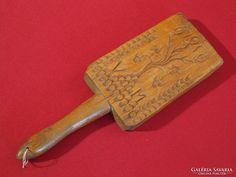 Antik, faragott, monogramos sulykoló