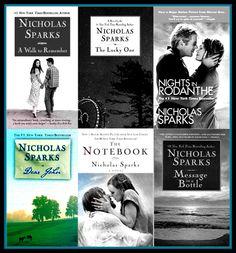 Nicholas Sparks Books <3