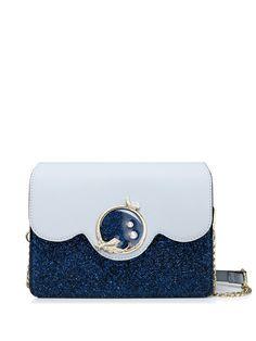 #AdoreWe #StyleWe Crossbody Bags - Designer JUST STAR Dark Blue Magnetic Sweet Sparking Glitter Fold-over flat top Crossbody Bag - AdoreWe.com